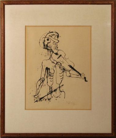 Lithograph Hofer - Der geiger