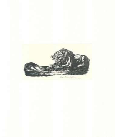Woodcut Klemm - Der Grosse und der Kleine