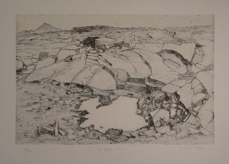 Etching Moser - Der letzte Schnee