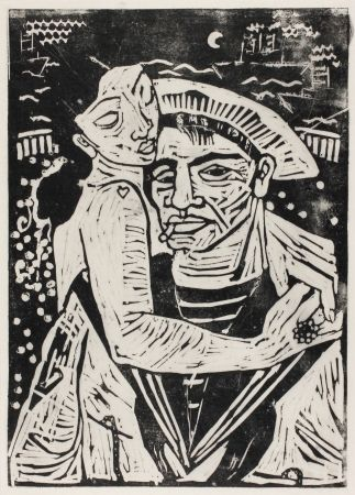 Woodcut Hamerschlag - Der Matrose Girolamo  (The Sailor Girolamo)