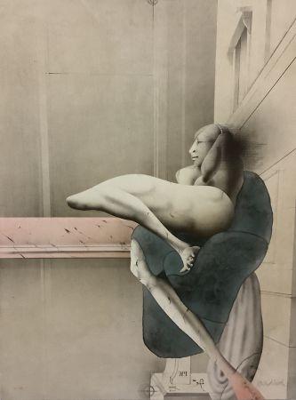 Lithograph Wunderlich - Der Morgen (nach Michelangelo)