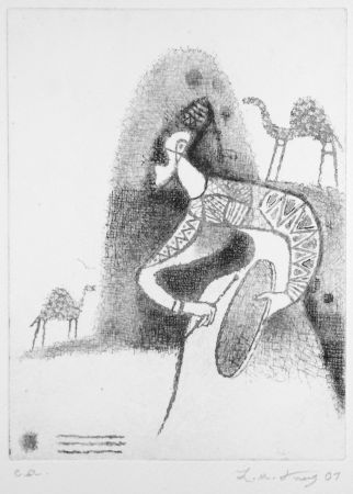 Engraving Kouliev - Der Rufer der Dromedare
