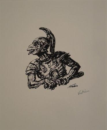 Lithograph Kubin - Der Soldat, der Christi Seite durchstach.
