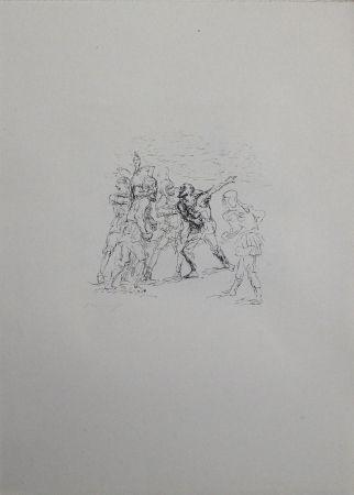 Lithograph Slevogt - Der verwundete Hellene