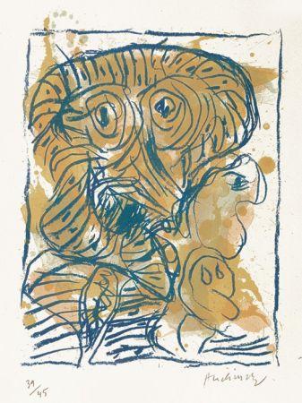 Lithograph Alechinsky - Derniers pas