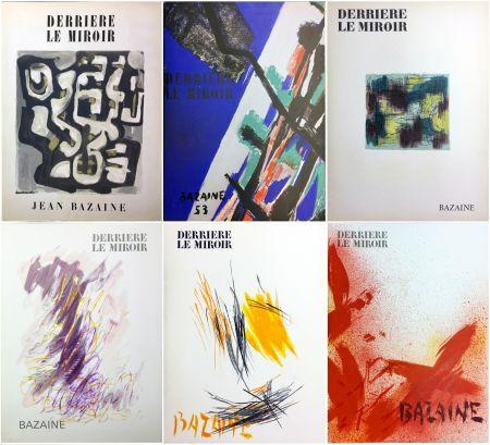 Illustrated Book Bazaine - DERRIÈRE LE MIROIR. BAZAINE. Collection complète des 6 volumes de la revue DERRIÈRE LE MIROIR consacrés à Jean Bazaine (parus de 1949 à 1975).