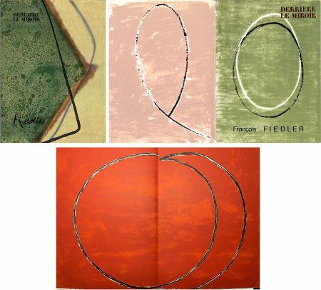 Illustrated Book Fiedler - DERRIÈRE LE MIROIR: COLLECTION COMPLÈTE des 4 volumes de la revue  consacrés François Fiedler: 26 LITHOGRAPHIES ORIGINALES (de 1959 à 1974).