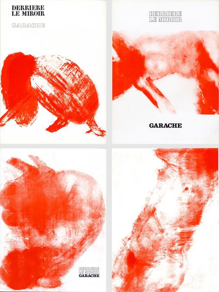 Illustrated Book Garache - DERRIÈRE LE MIROIR. GARACHE. Réunion des 3 numéros de la revue consacrés à Claude Garache (de 1975 à 1980).