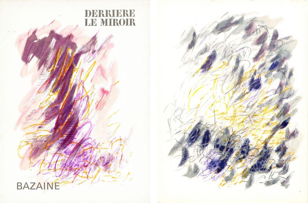 Illustrated Book Bazaine - DERRIÈRE LE MIROIR N°170. Mars 1968. 6 LITHOGRAPHIES ORIGINALES EN COULEURS.