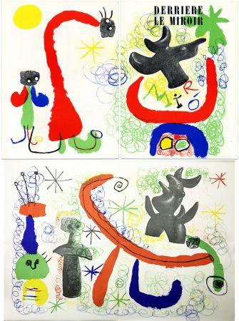 Lithograph Miró - DERRIÈRE LE MIROIR n° 29-30 - MIRO. PARLER SEUL - Mai 1950.