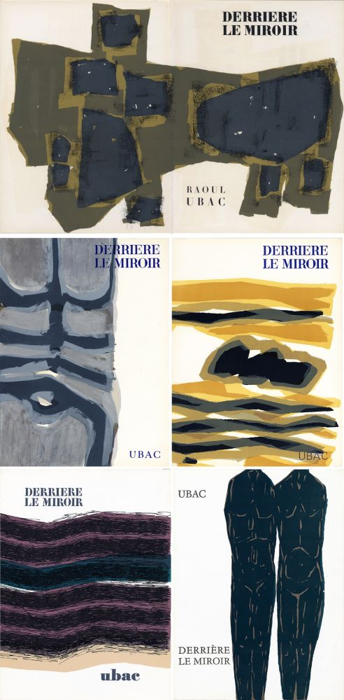 Illustrated Book Ubac - DERRIÈRE LE MIROIR. UBAC. Collection complète des 9 volumes de la revue consacrés à Raoul Ubac (de 1950 à 1982).