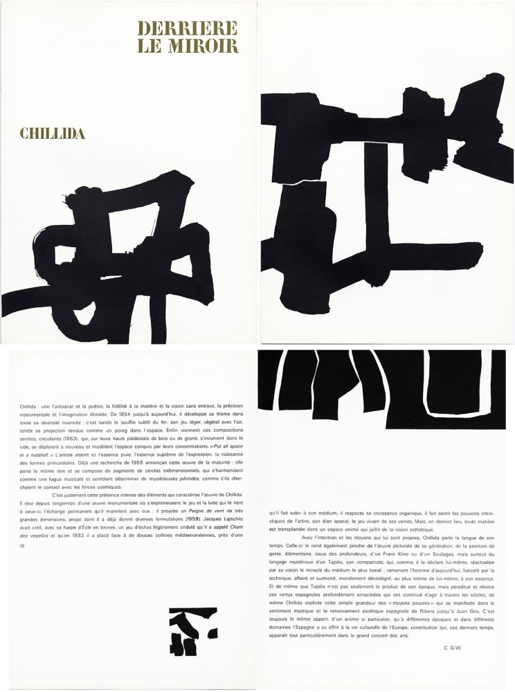 Illustrated Book Chillida - Derrière le Miroir n° 143 . CHILLIDA . Avril 1964.
