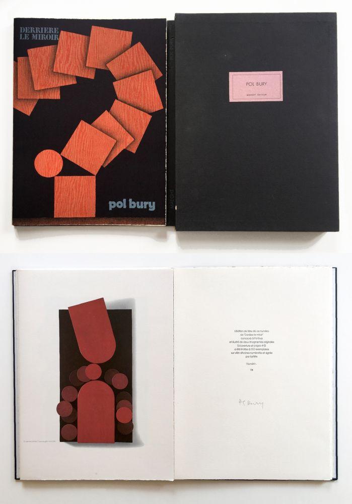 Illustrated Book Bury - Derrière le Miroir n° 228. POL BURY. Mars 1978. TIRAGE DE LUXE SIGNÉ.
