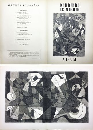 Etching Adam - Derrière le Miroir n° 24. ADAM .1949. Gravure originale.