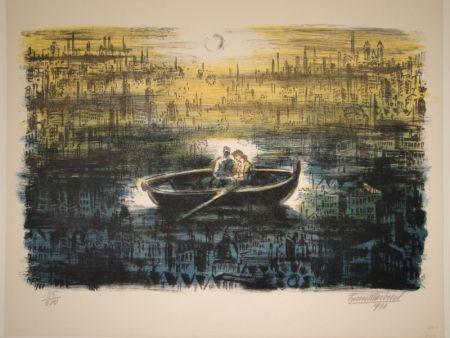 Lithograph Masereel - Des amoureux