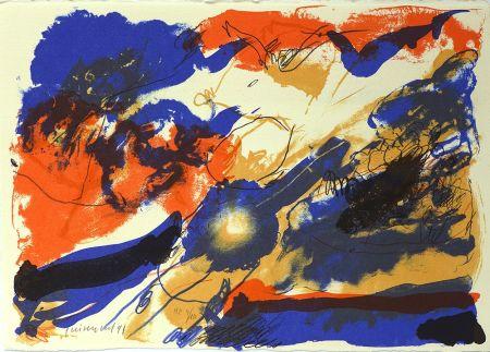 Lithograph Guinovart - Des dels blaus