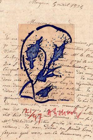 Etching Alechinsky - Des deux mains