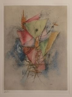 Etching And Aquatint Wols - Des voiles déchirées