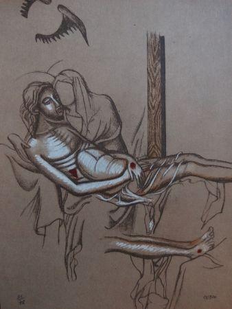 Lithograph Cueco - Descente de Croix