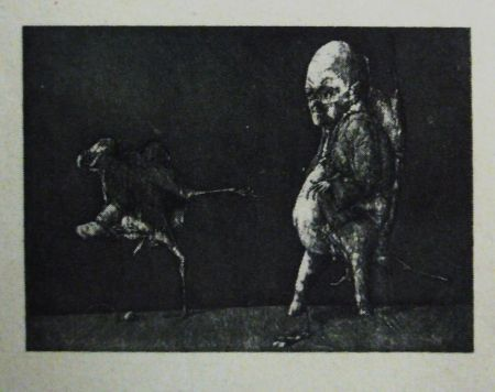 Etching And Aquatint Hernandez - Deseo amenazado