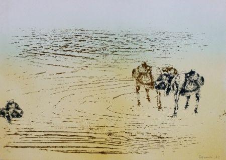Lithograph Cremonini - DESERT