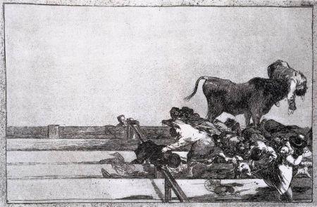 Engraving Goya - Desgracias