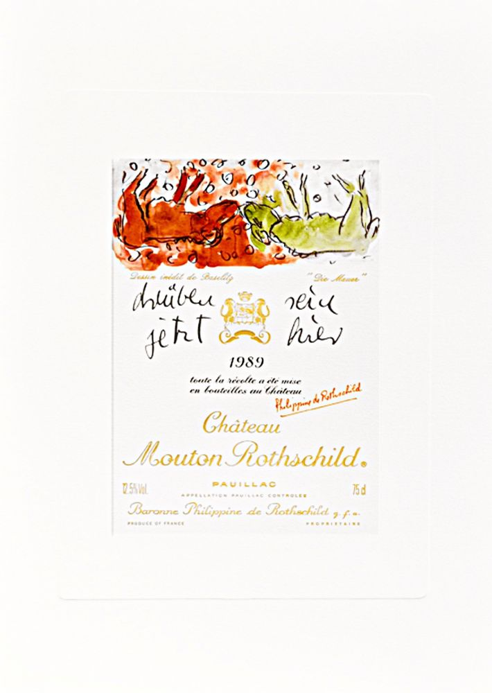 "Lithograph Baselitz -  Design de Georg Baselitz - ""Die Mauer"""