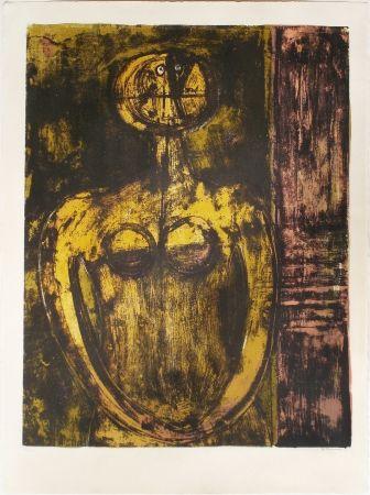 Lithograph Tamayo - Desnudo en Naranja