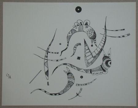 Lithograph Kandinsky - Dessin à la plume, 1938