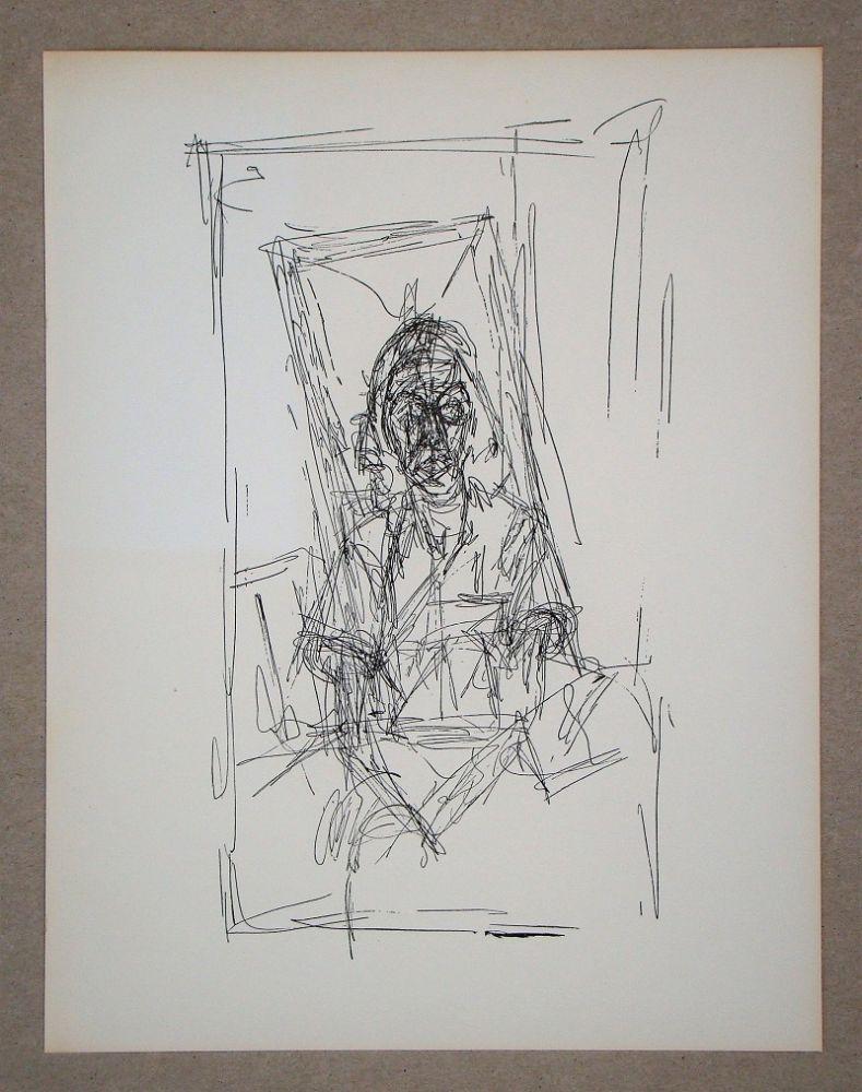 Lithograph Giacometti - Dessin, 1954