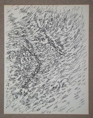 Lithograph Michaux - Dessin, 1955