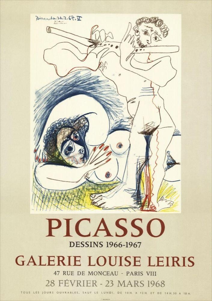 Lithograph Picasso - Dessins 1966-67 à la Galerie Louise LEIRIS