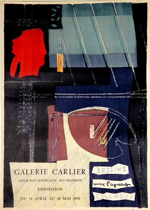 Lithograph Papart - Dessins Collages  Galerie Carlier