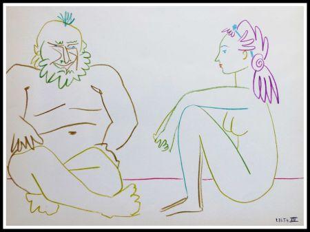 Lithograph Picasso (After) - DESSINS DE VALLAURIS VII