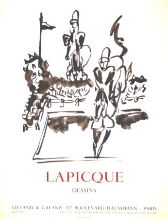 Lithograph Lapicque - Dessins  Exposition Villand Galanis Paris