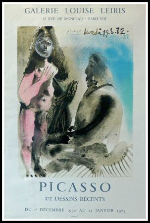 Poster Picasso - DESSINS PICASSO, GALERIE LOUISE LEIRIS