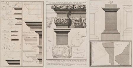 Etching Piranesi - Detalles arquitectónicos