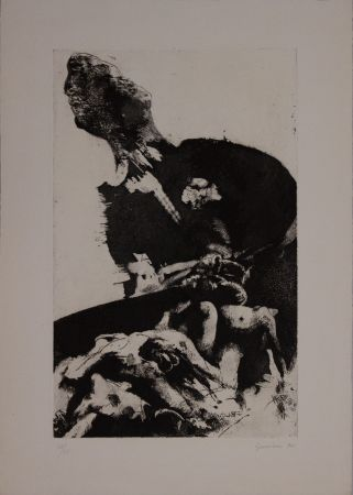 Etching And Aquatint Guccione - Deterrent