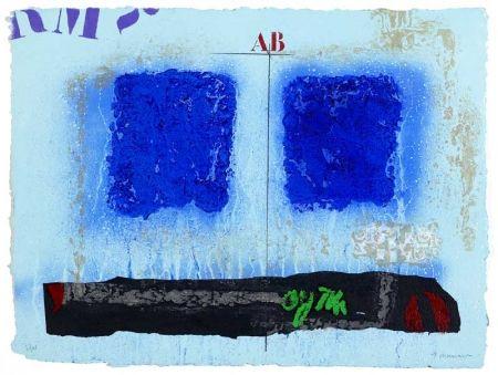 Carborundum Coignard - Deux bleus et noir