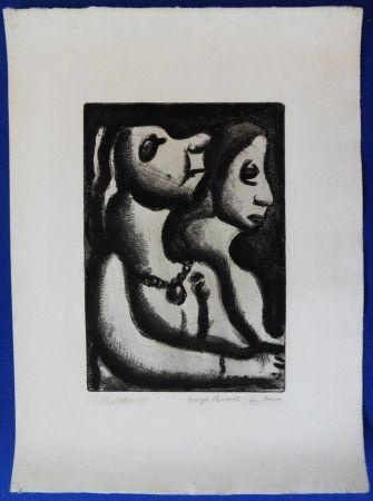Etching Rouault - Deux femmes
