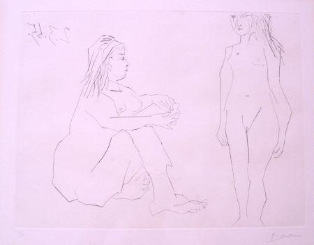 Engraving Picasso - Deux Femmes