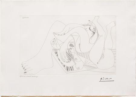 Etching Picasso - Deux Femmes Batifolant