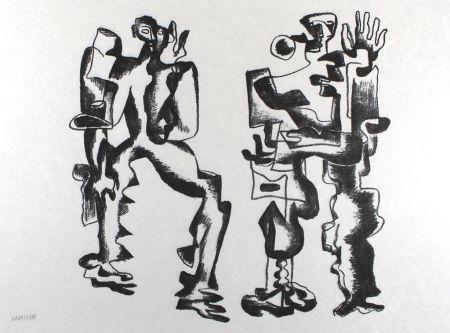 Lithograph Zadkine - Deux figures