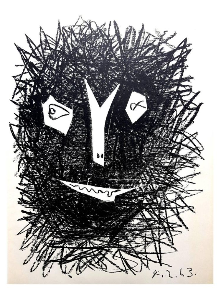 Lithograph Picasso (After) - Deux Masques