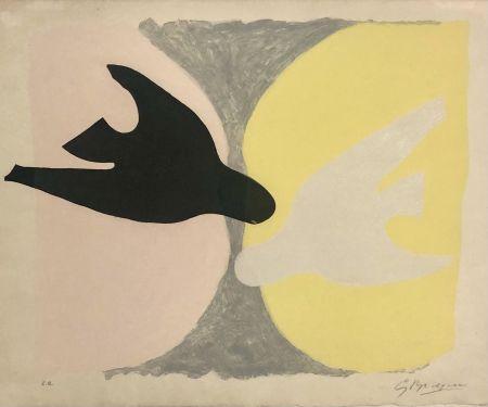 Etching And Aquatint Braque - Deux Oiseaux