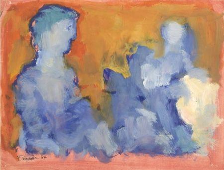No Technical Mualla - Deux personnages bleus sur fond orange