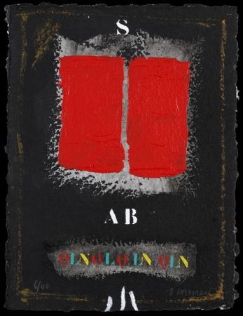 Carborundum Coignard - Deux rouges sur noir