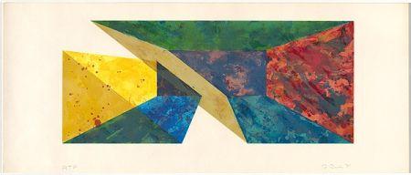 Screenprint Davis - Diagonal Slice
