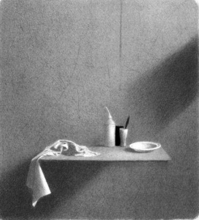 Lithograph Ferroni - Diagonale D'ombra