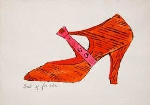 Lithograph Warhol - Dial M for Shoes
